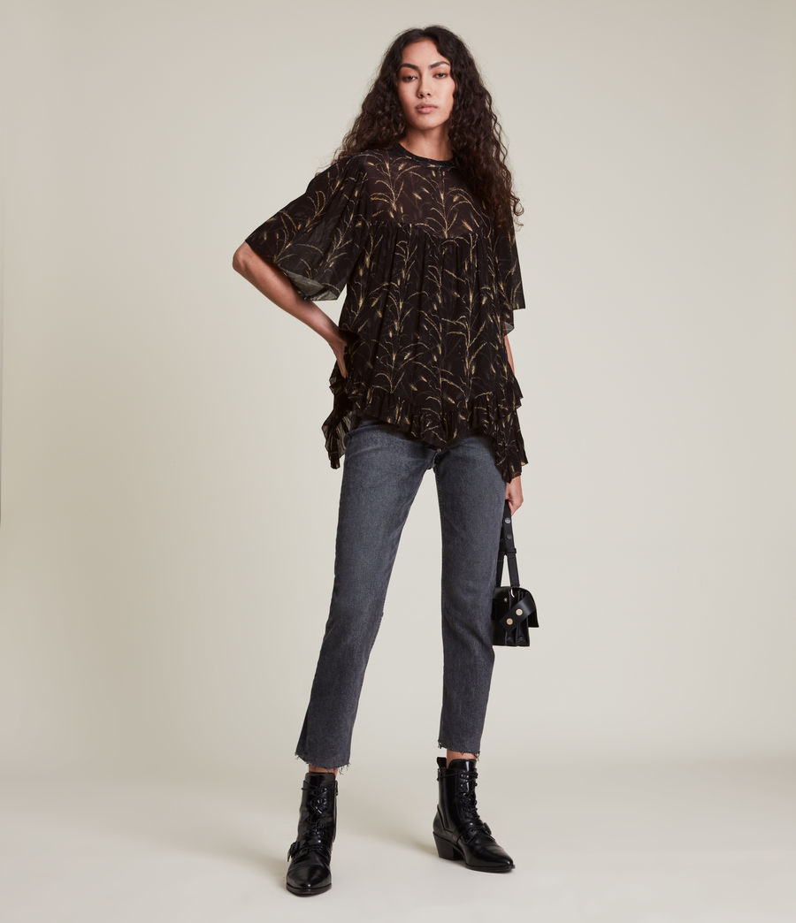 Womens Nico Lowestoft Top (black) - Image 2