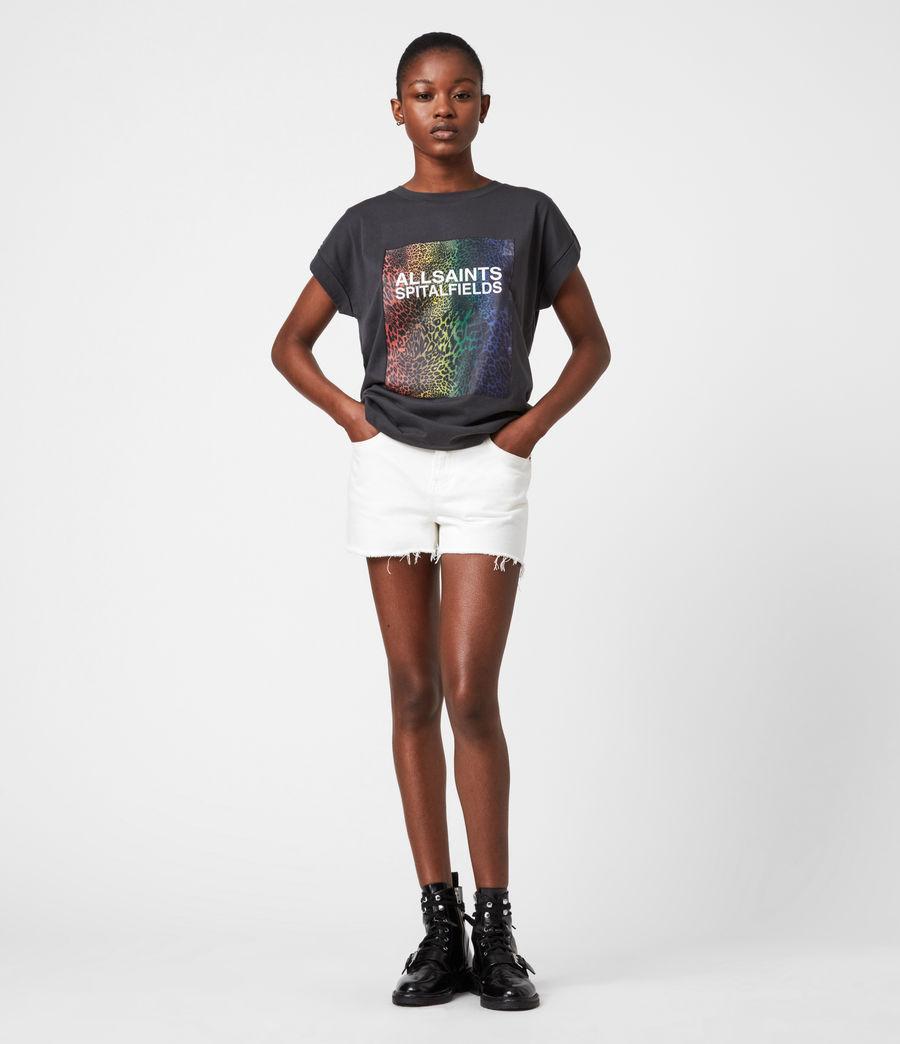 Women's Pride Leppo Imogen Boy T-Shirt (washed_black) - Image 7