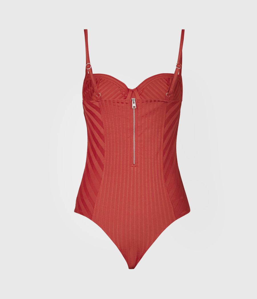 Women's Yuni Rib Bodysuit (bright_orange) - Image 3