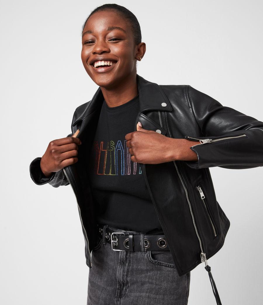 Femmes T-Shirt Pride Outline Anna (black) - Image 1