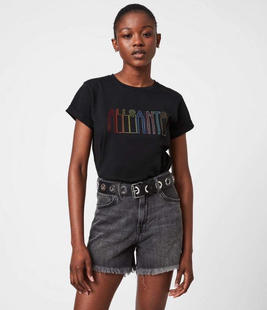 Femmes T-Shirt Pride Outline Anna (black) - Image 7