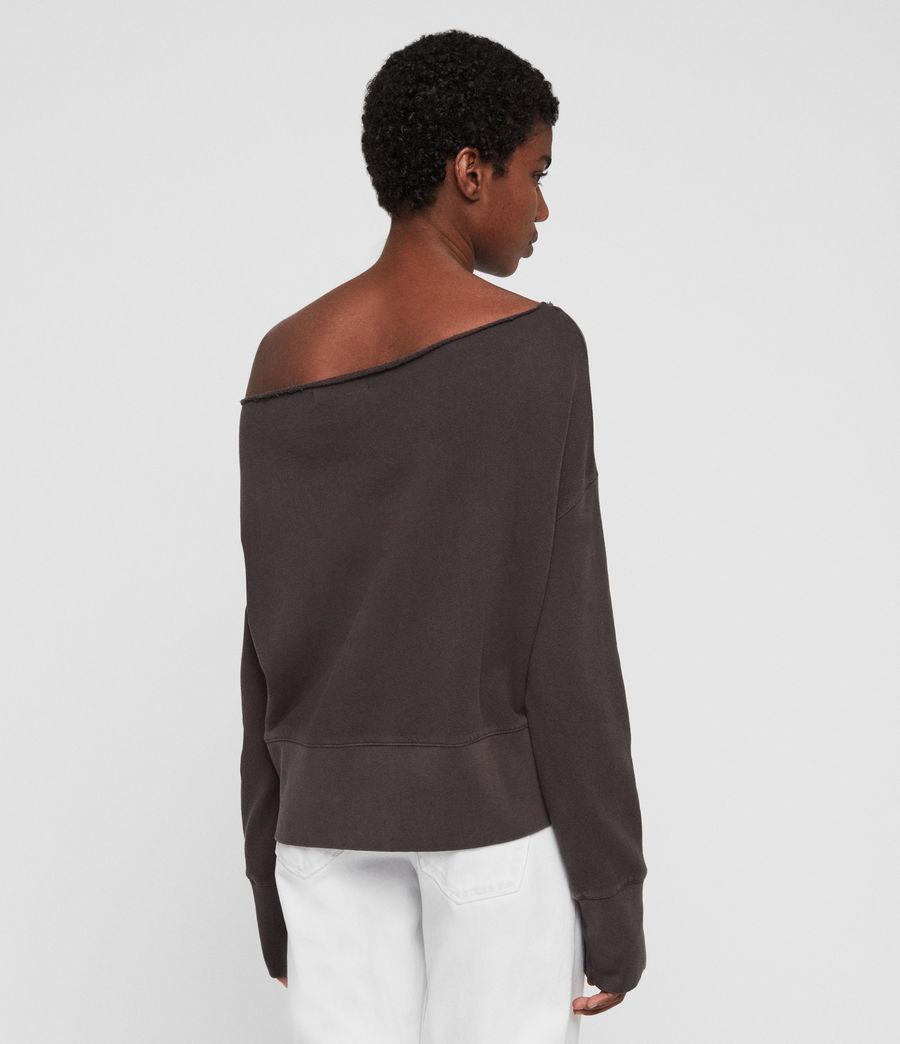 Womens Lando Off Shoulder Sweatshirt (mouse_grey) - Image 6