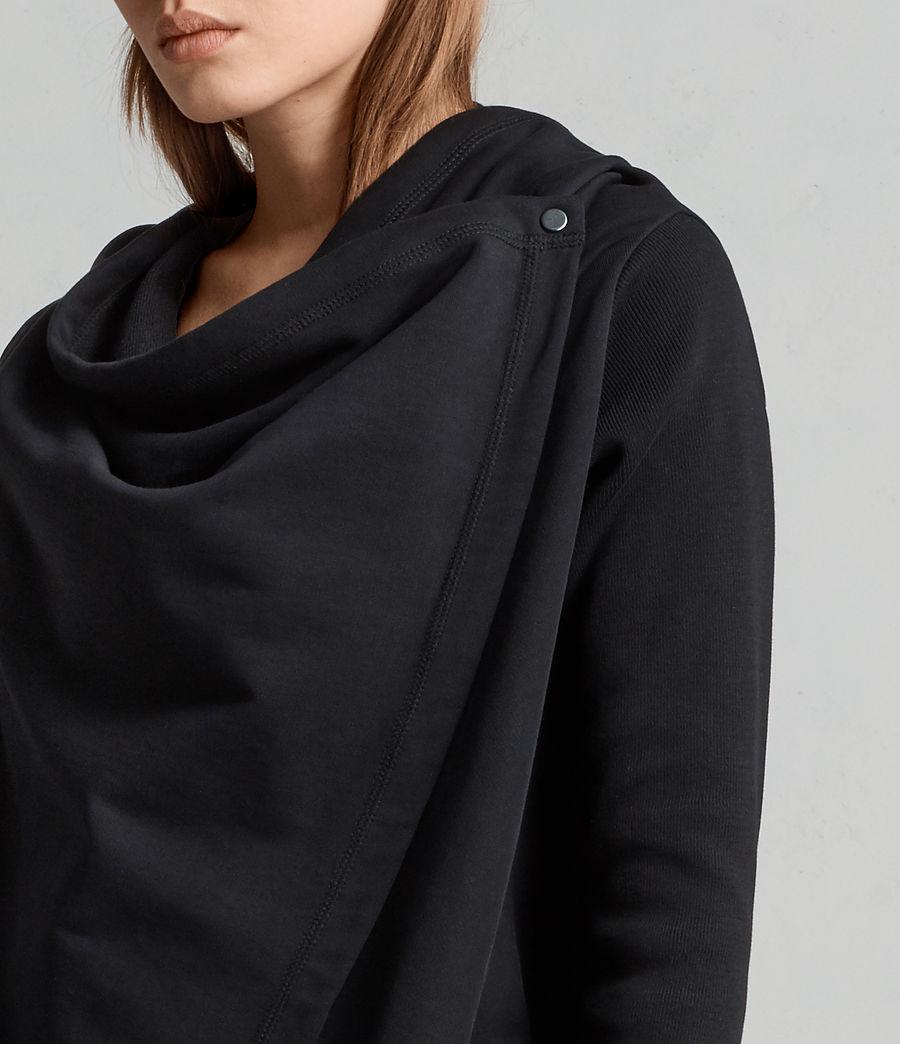 Mujer Cárdigan Ivy Drape (black) - Image 2