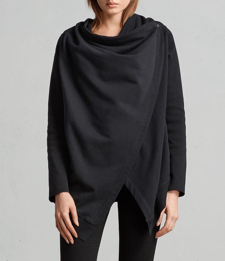 Mujer Cárdigan Ivy Drape (black) - Image 4