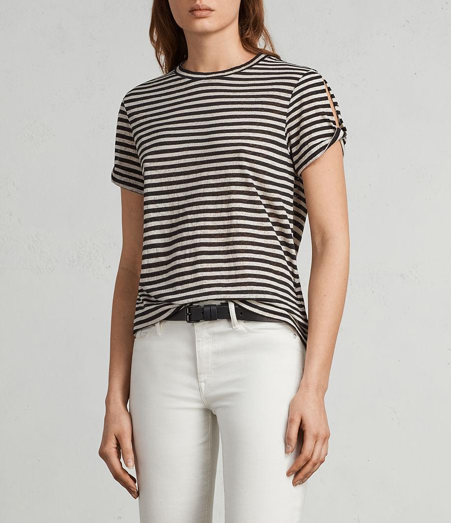 Donne T-shirt Mazzy Stripe (black_chalk_white) - Image 1