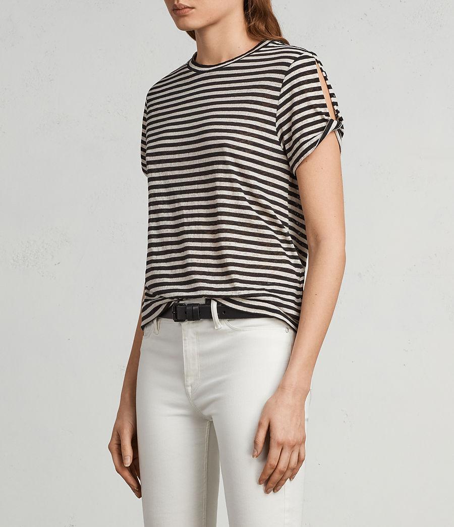 Femmes T-Shirt Mazzy Stripe (black_chalk_white) - Image 3