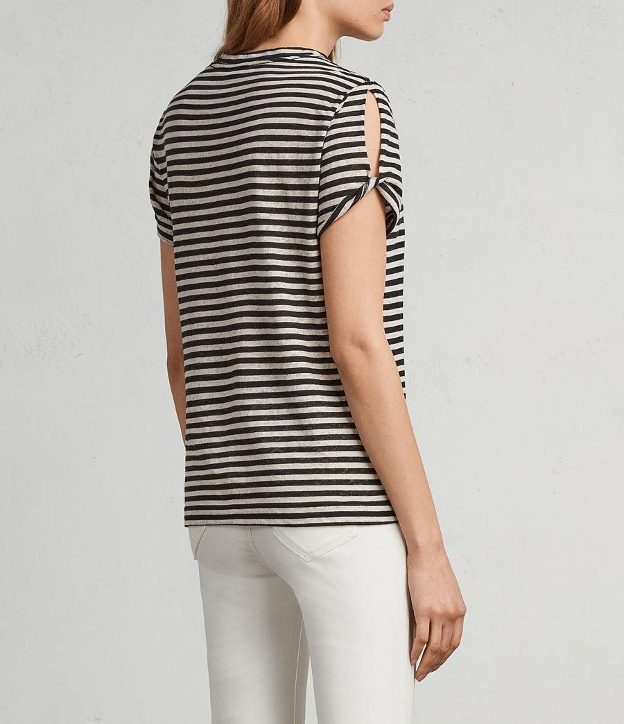Femmes T-Shirt Mazzy Stripe (black_chalk_white) - Image 4