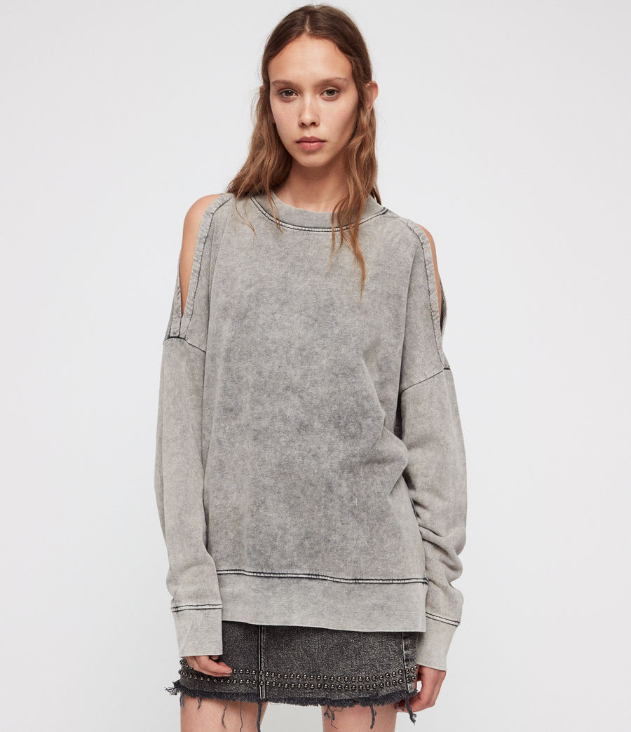 Damen Unai Sweatshirt (light_grey) - Image 3