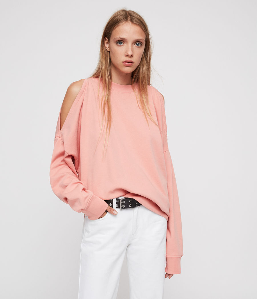Women's Unai Oversized Sweatshirt (peach_pink) - Image 1