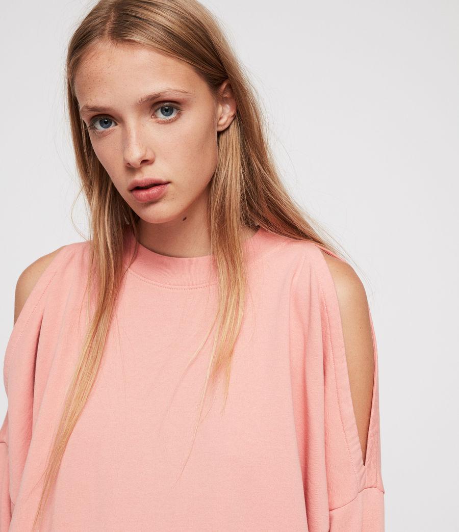 Women's Unai Oversized Sweatshirt (peach_pink) - Image 2