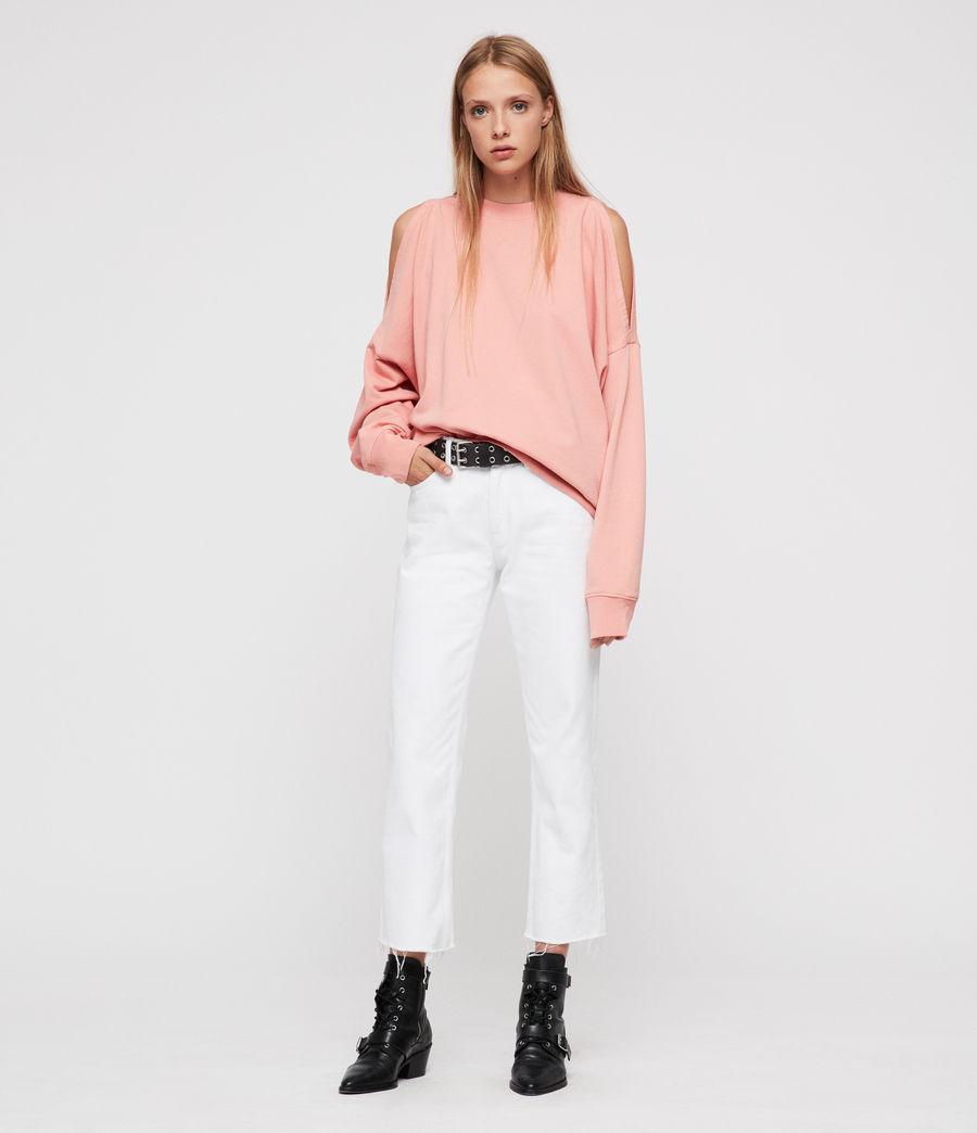 Women's Unai Oversized Sweatshirt (peach_pink) - Image 3