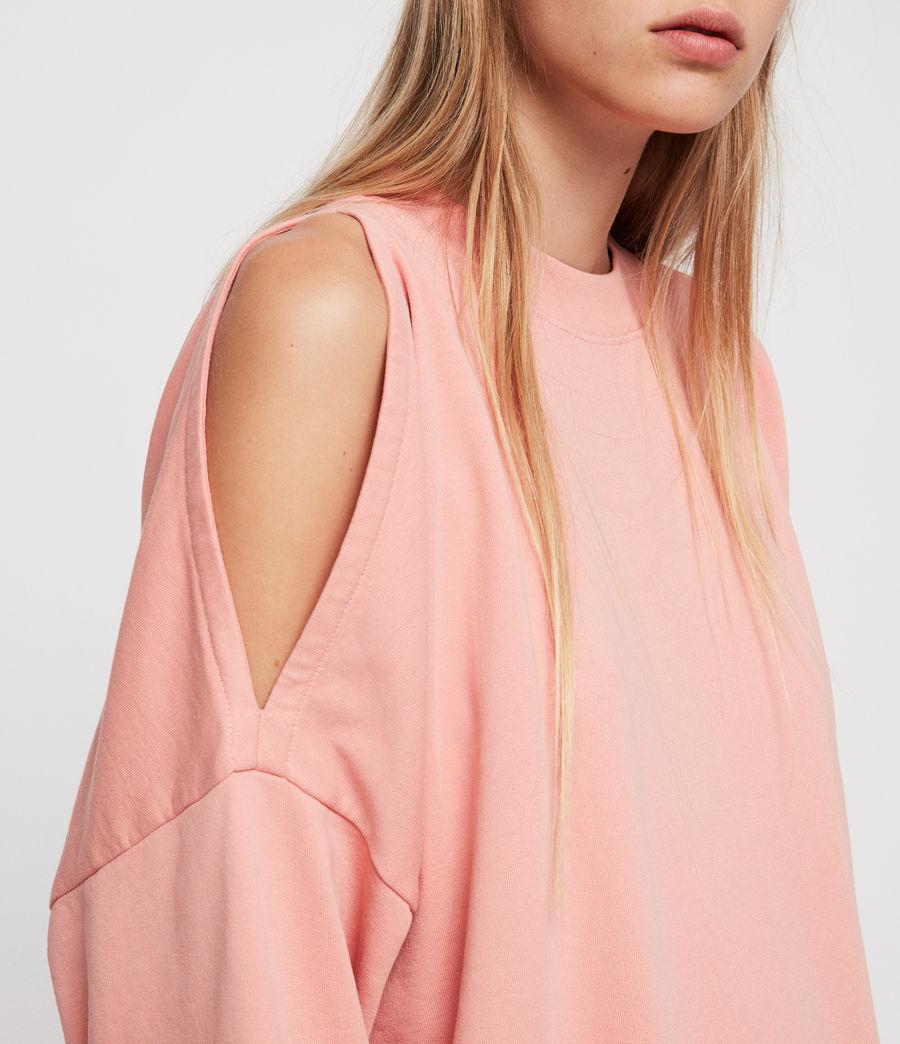 Women's Unai Oversized Sweatshirt (peach_pink) - Image 4