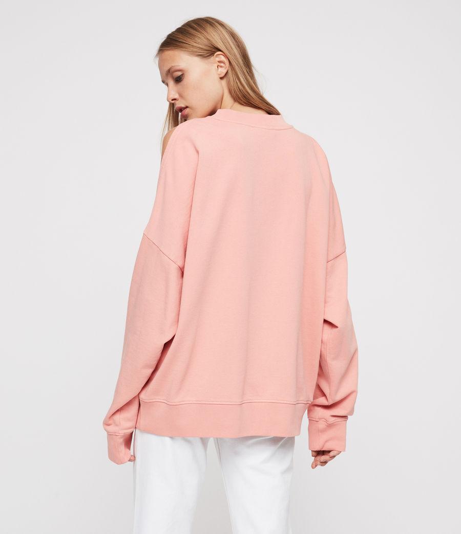 Women's Unai Oversized Sweatshirt (peach_pink) - Image 5
