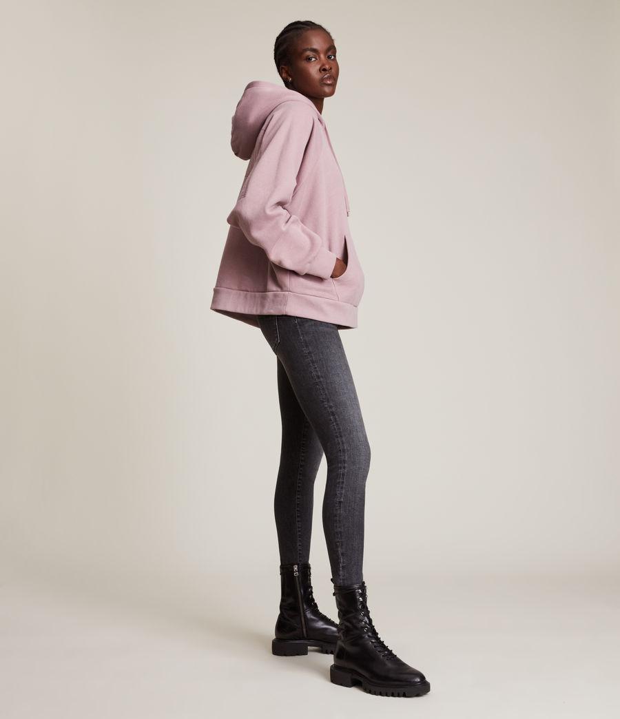 Women's AllSaints Talon Hoodie (morning_mauve) - Image 4