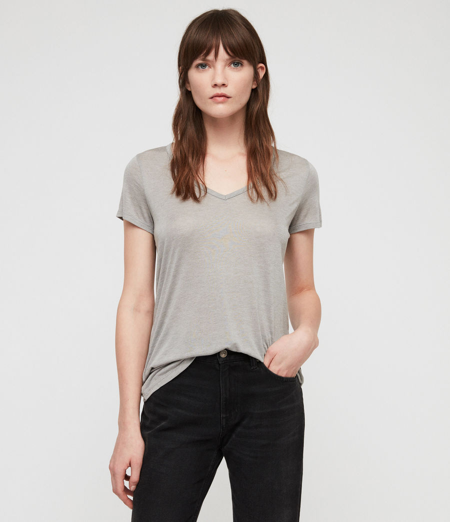 Women's Malin Silk T-Shirt (grey_marl) - Image 1