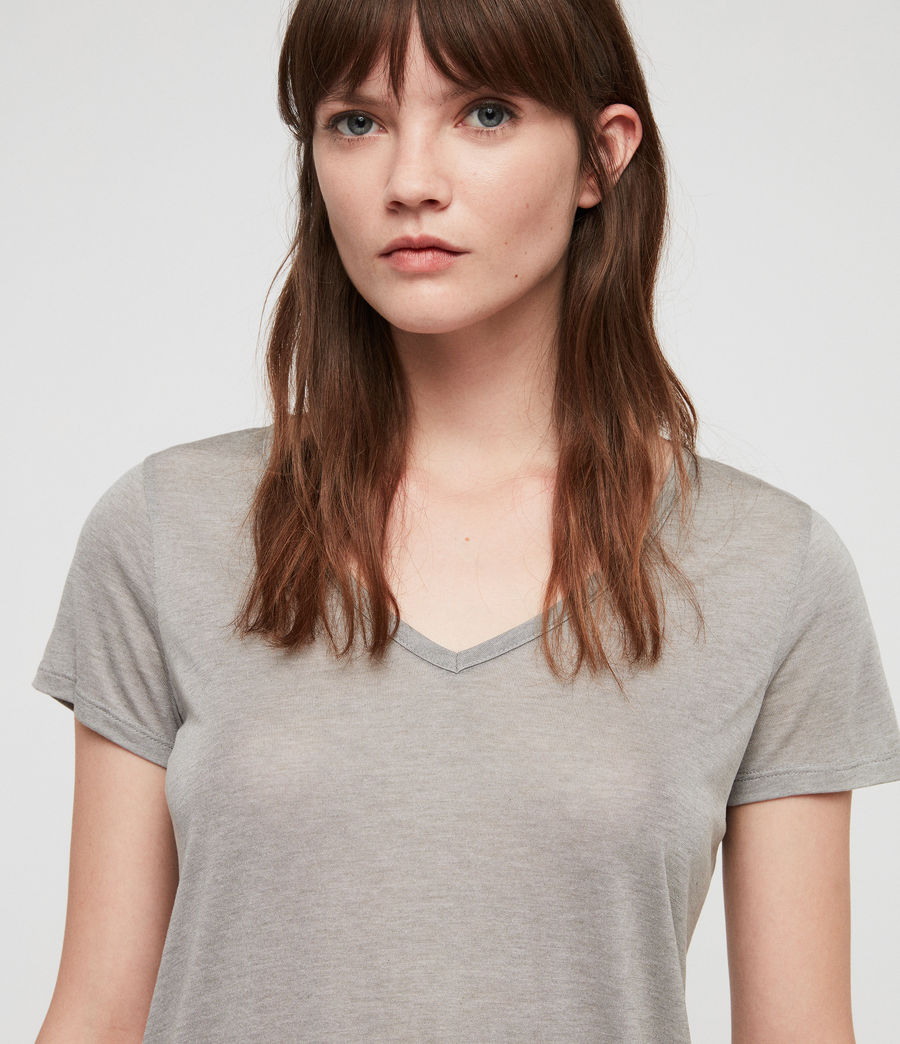Womens Malin Silk T-Shirt (grey_marl) - Image 2