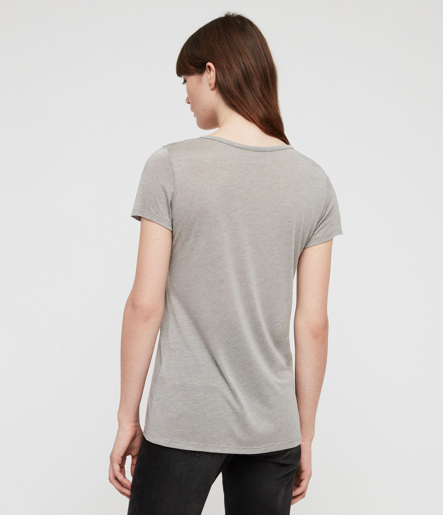 Women's Malin Silk T-Shirt (grey_marl) - Image 4