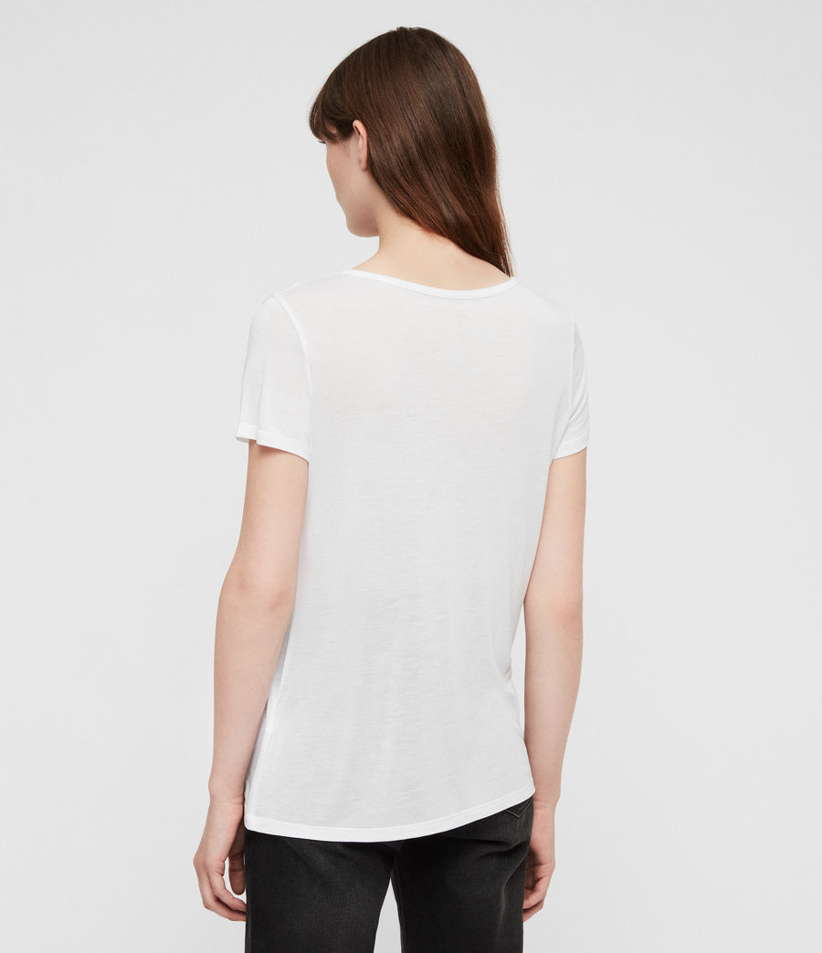 Womens Malin Silk T-Shirt (Optic) - Image 4