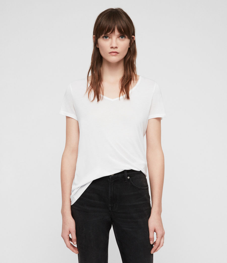 Womens Malin Silk T-Shirt (optic_white) - Image 1