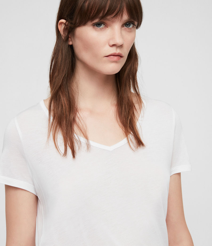 Womens Malin Silk T-Shirt (optic_white) - Image 2