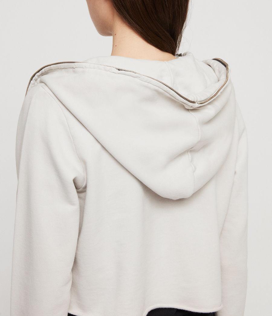 Women's Xonda Crop Zip Hoodie (ivory_white) - Image 2
