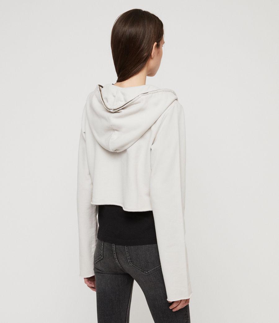 Women's Xonda Crop Zip Hoodie (ivory_white) - Image 5