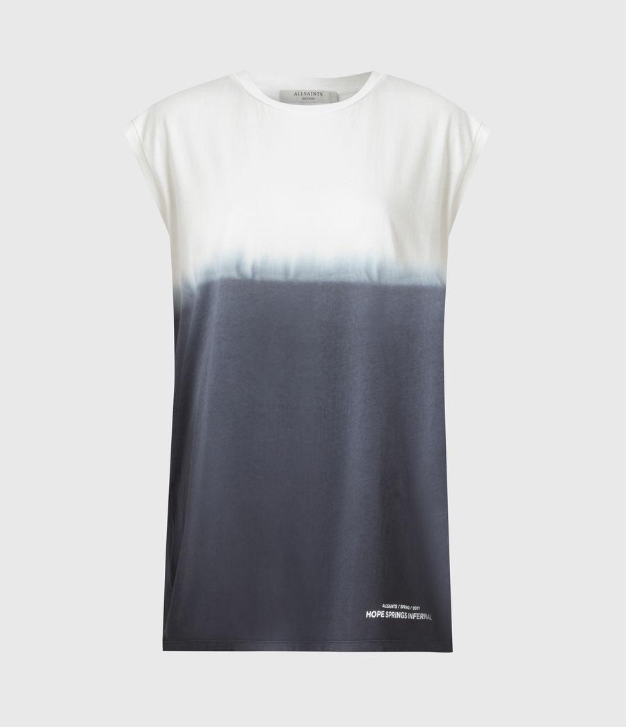 Womens Brandy Tie Dye Tank (ink_blue_white) - Image 2