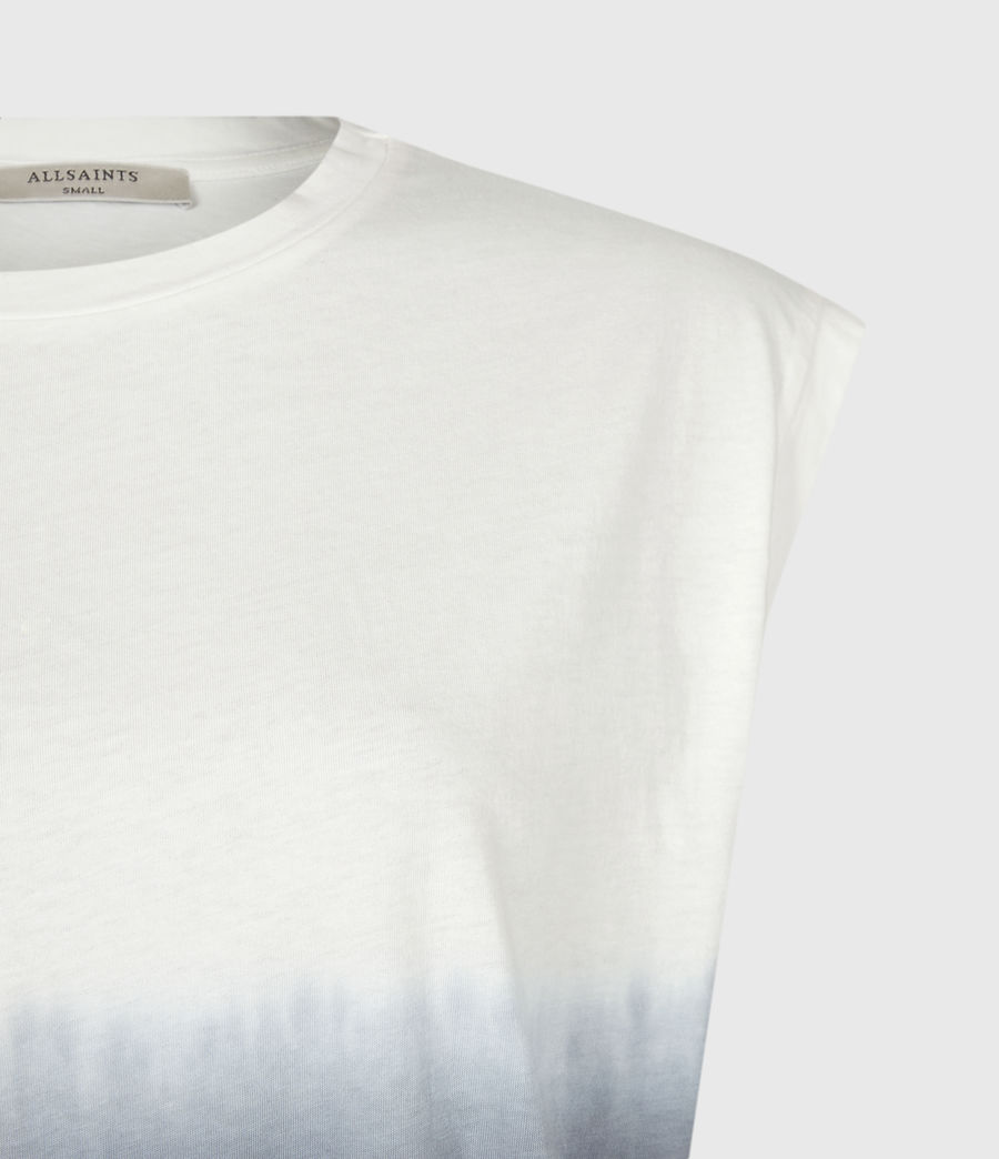 Womens Brandy Tie Dye Tank (ink_blue_white) - Image 5