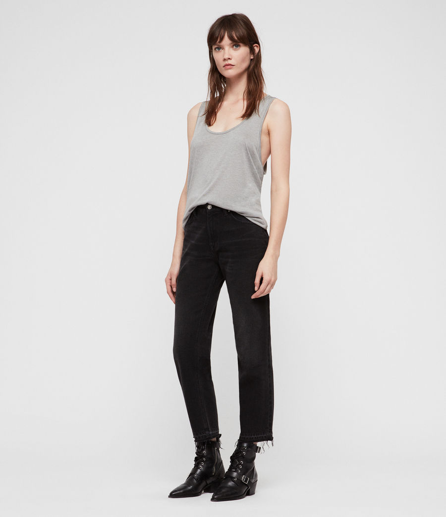 Womens Malin Silk Tank (grey_marl) - Image 3