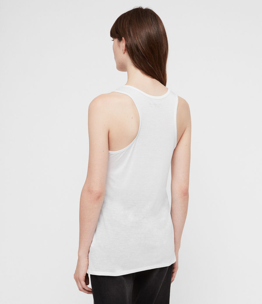 Women's Malin Silk Tank (optic) - Image 4