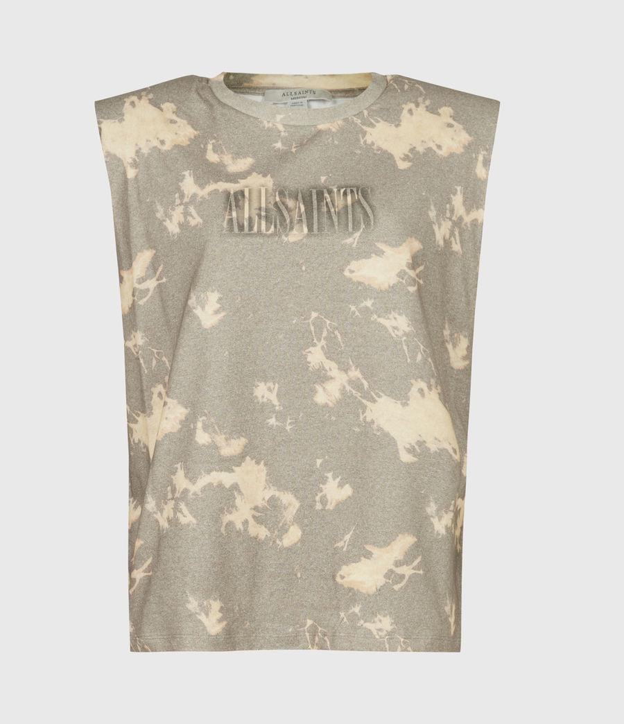 Womens Coni Tie Dye Tank (grey) - Image 2