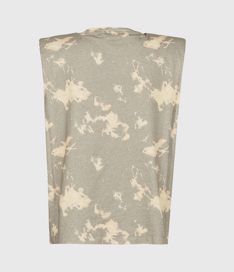 Womens Coni Tie Dye Tank (grey) - Image 3