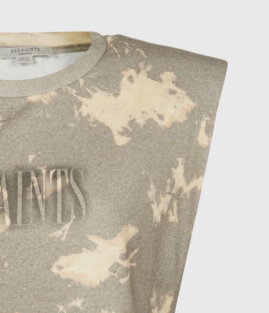 Womens Coni Tie Dye Tank (grey) - Image 5