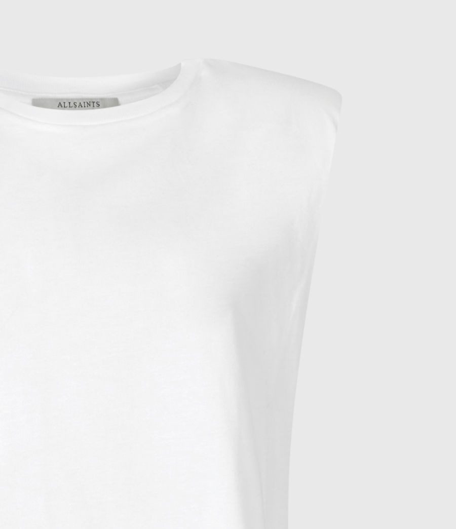 Femmes Débardeur en Coton Bio Coni (optic_white) - Image 5