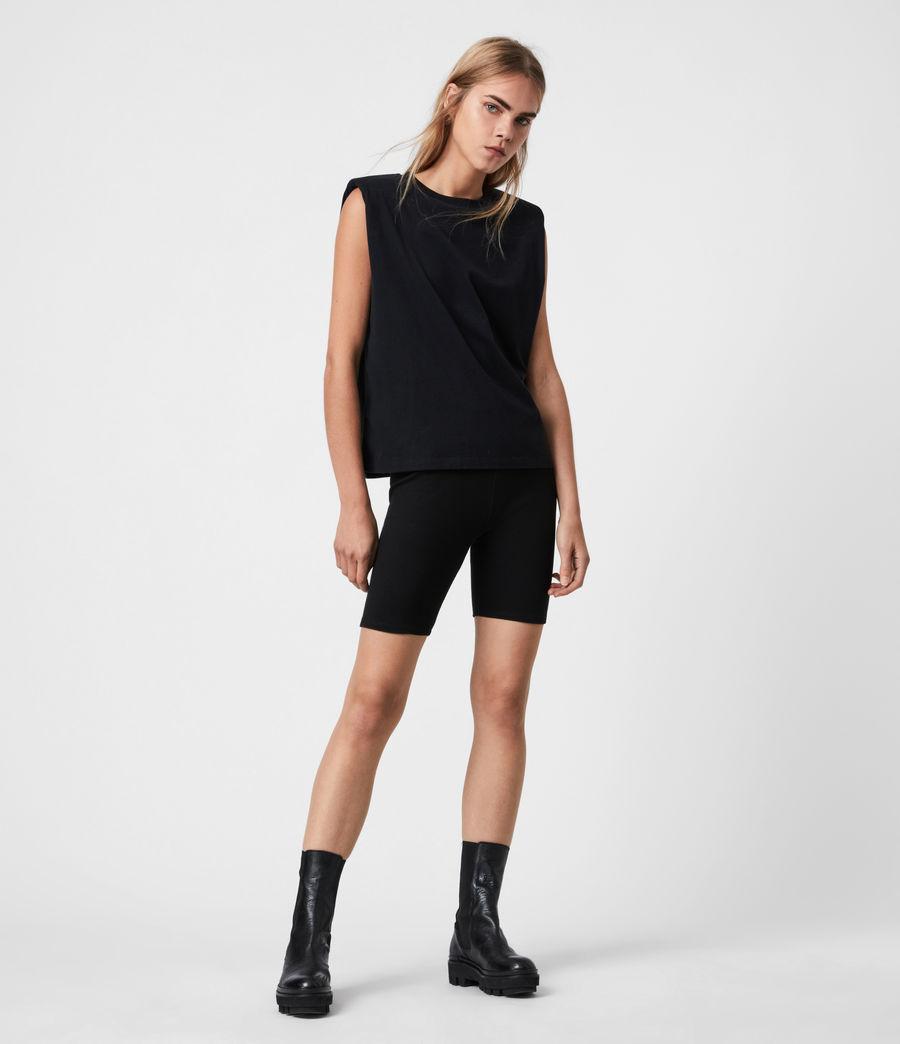Womens Coni Organic Cotton Tank (black) - Image 1