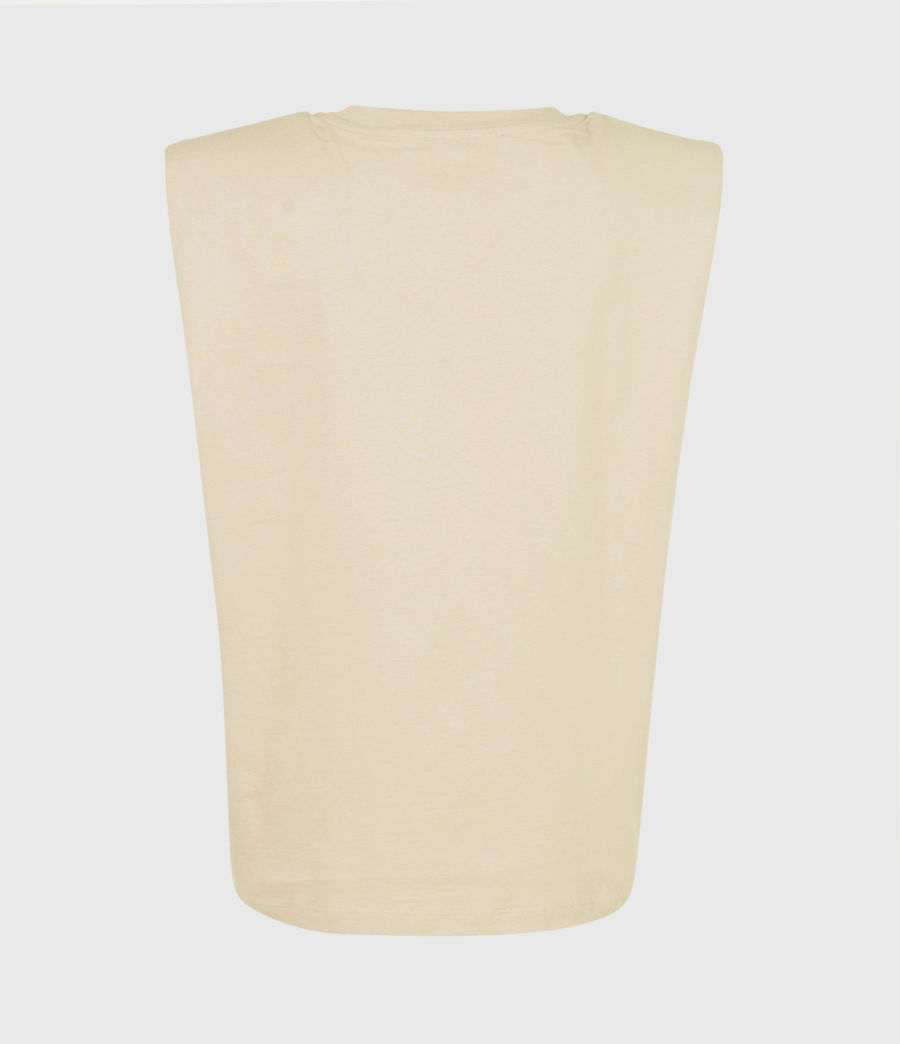 Women's Coni Organic Cotton Tank (ochre_yellow) - Image 3
