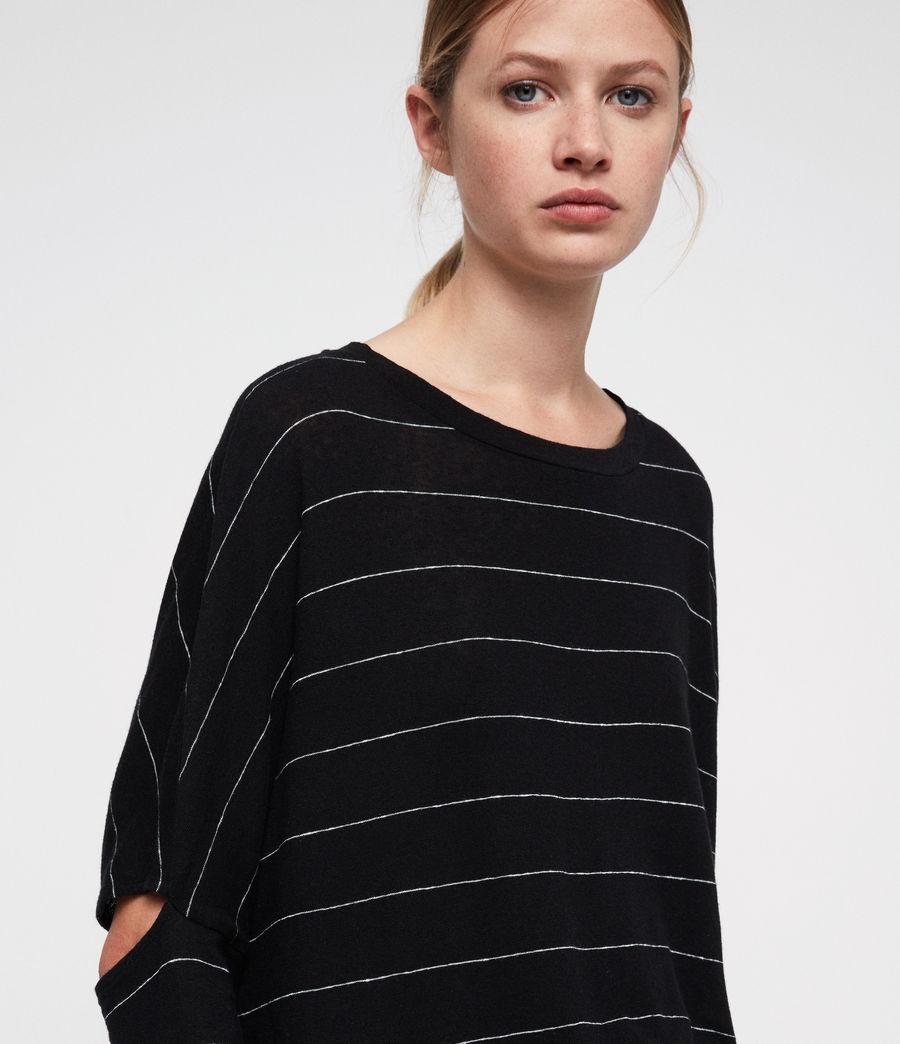 Womens Wave Stripe T-Shirt (black_chalk) - Image 4