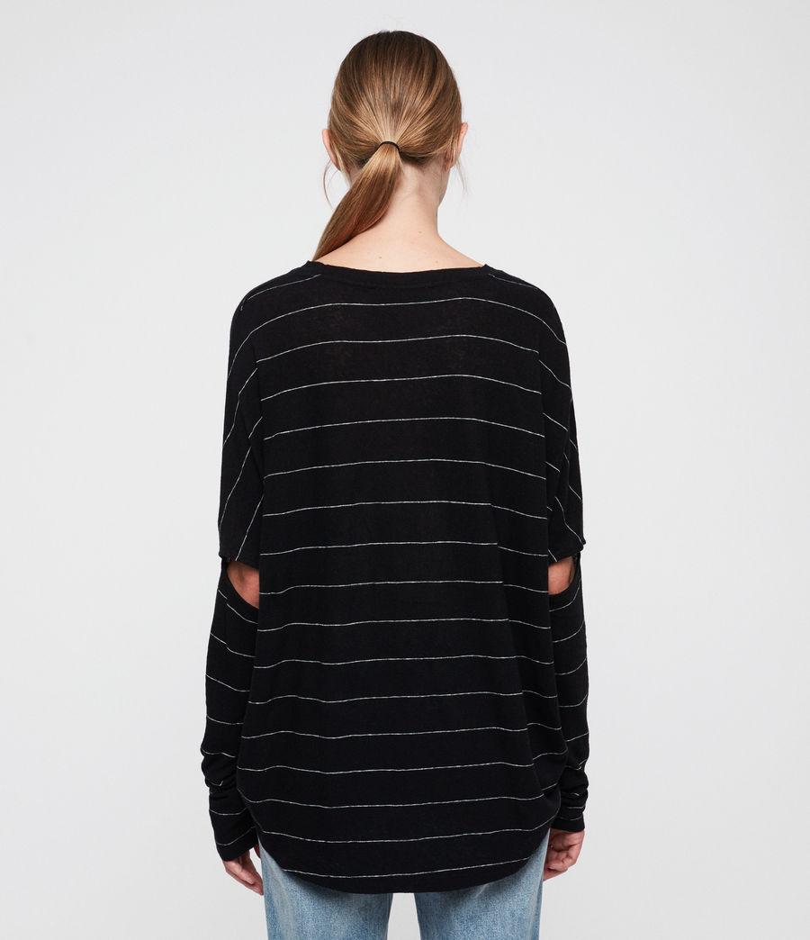 Womens Wave Stripe T-Shirt (black_chalk) - Image 5
