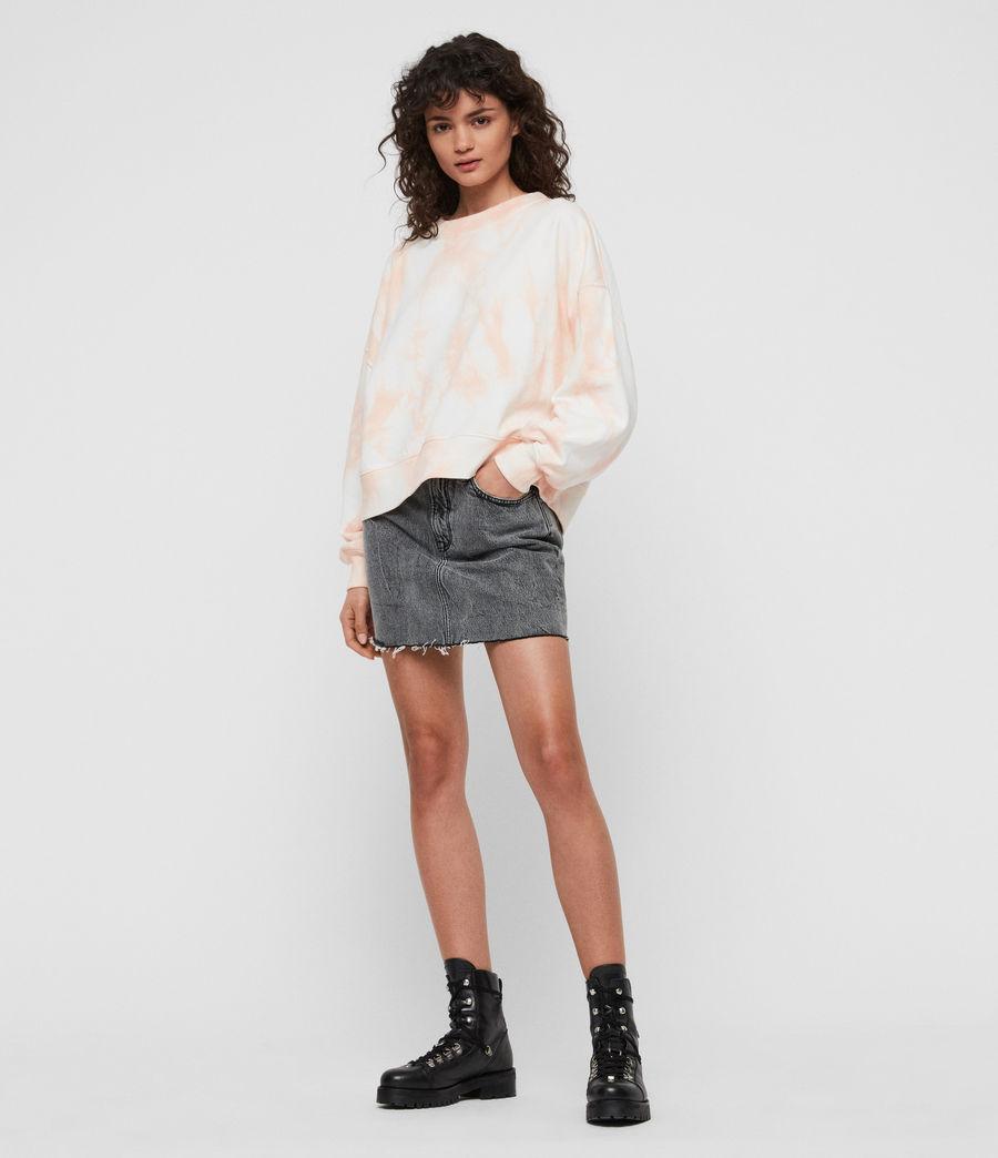 Women's Riso Tiedye Sweatshirt (chalk_bleach_pink) - Image 1