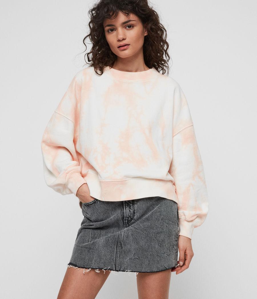 Women's Riso Tiedye Sweatshirt (chalk_bleach_pink) - Image 2