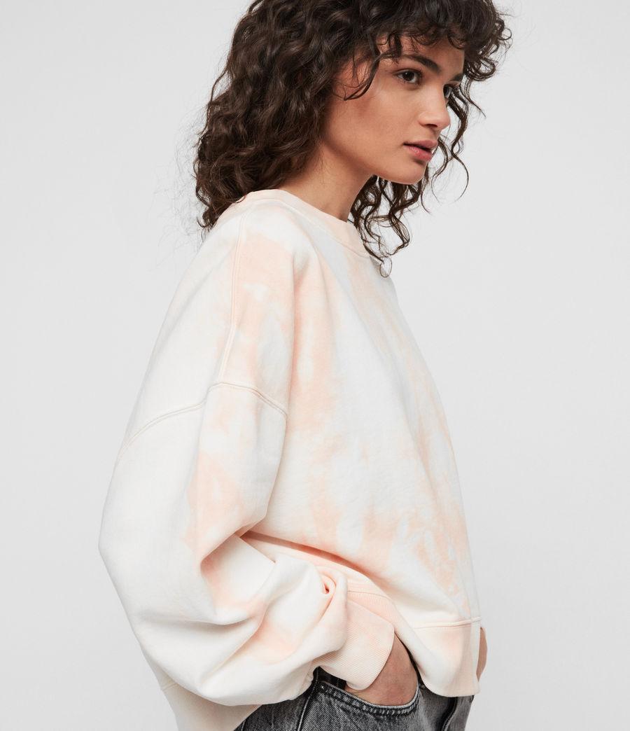 Women's Riso Tiedye Sweatshirt (chalk_bleach_pink) - Image 3