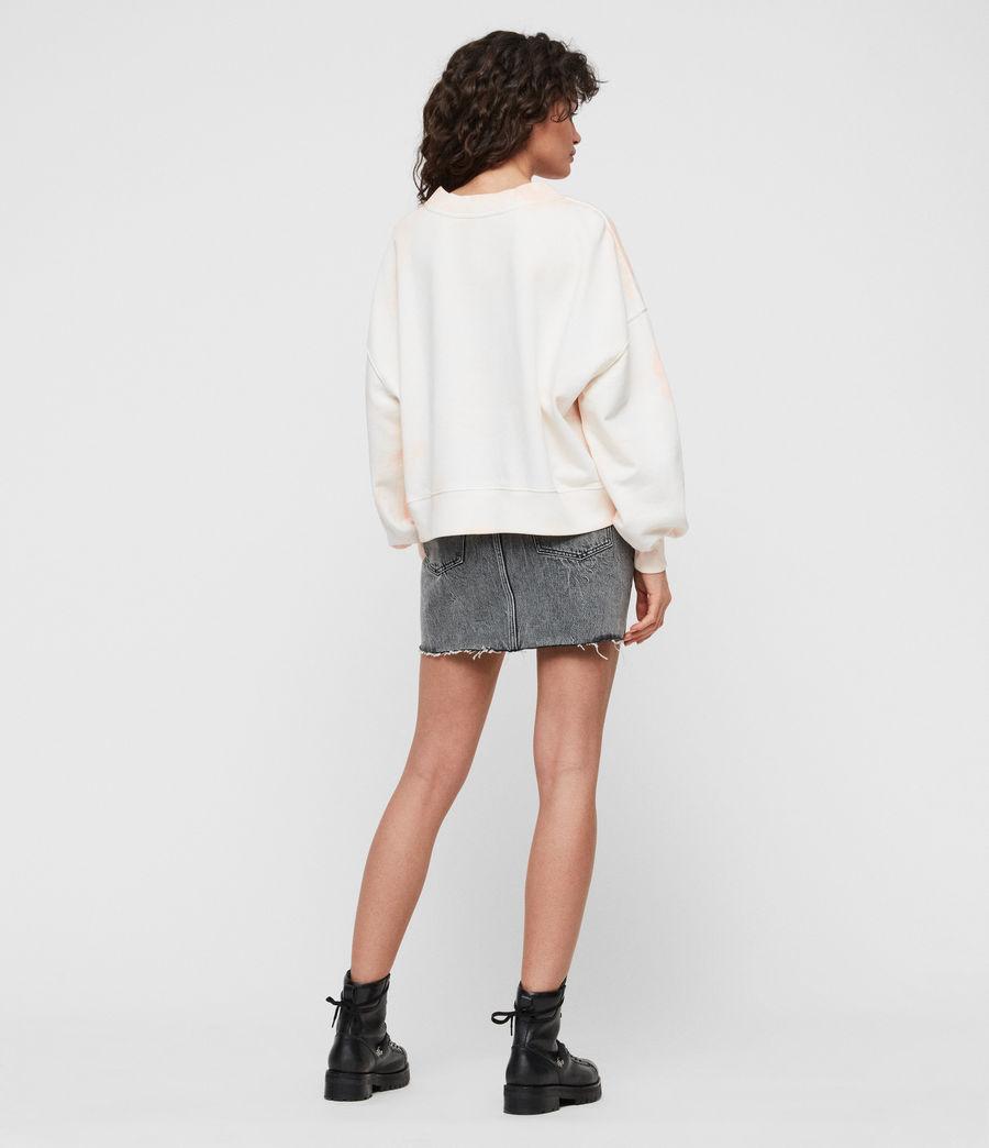 Women's Riso Tiedye Sweatshirt (chalk_bleach_pink) - Image 4