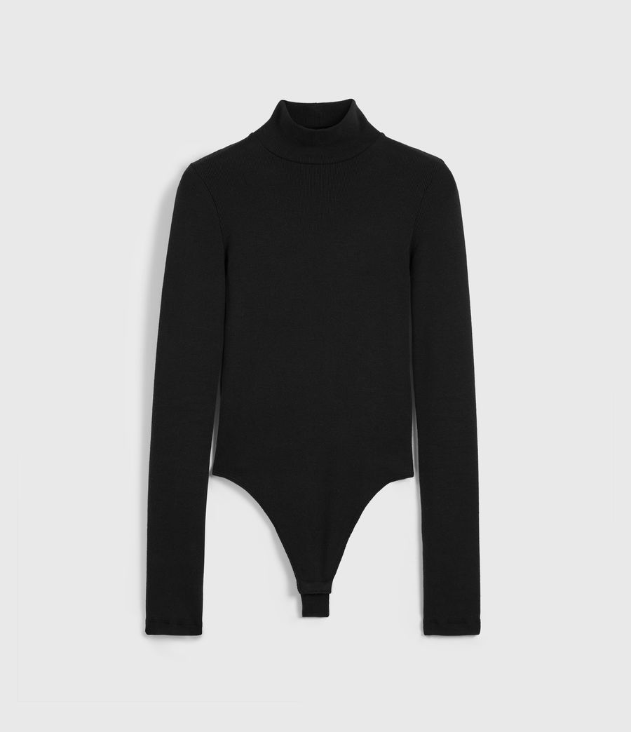 Womens Raffi Roll Neck Bodysuit (black) - Image 6