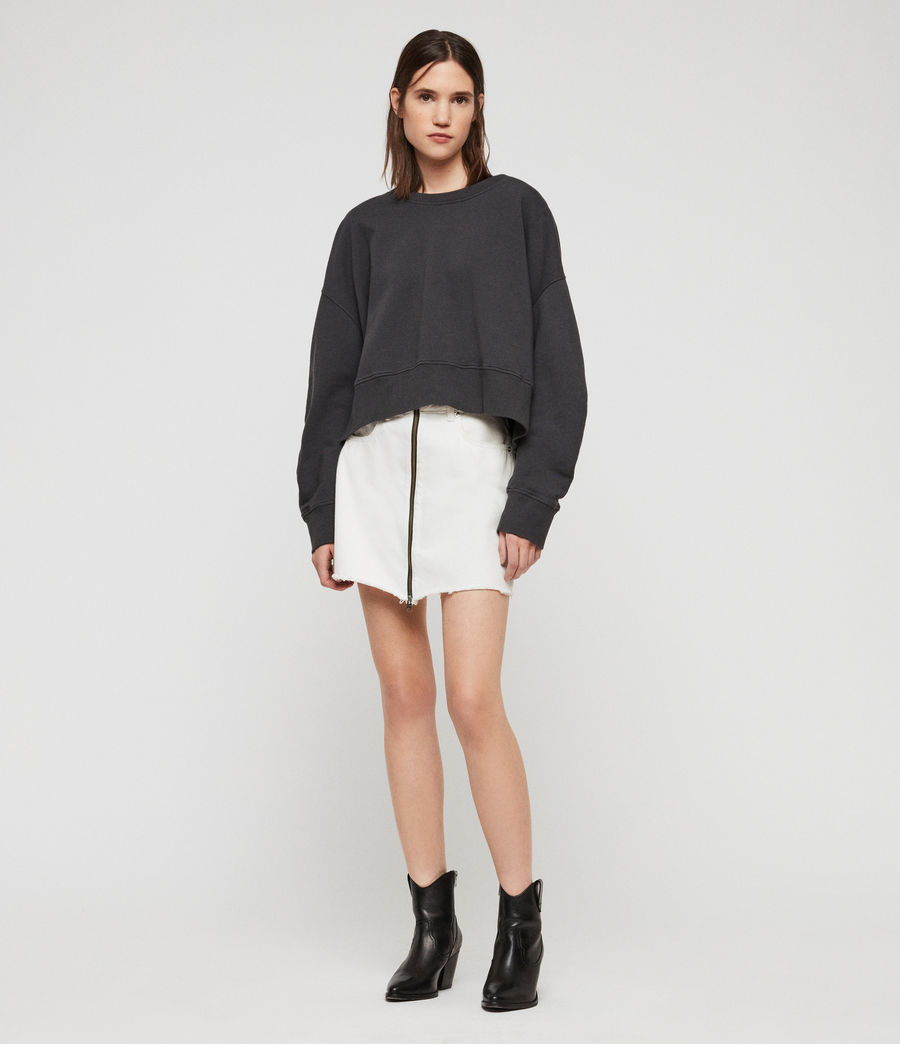 Women's Marna Sweatshirt (washed_black) - Image 1