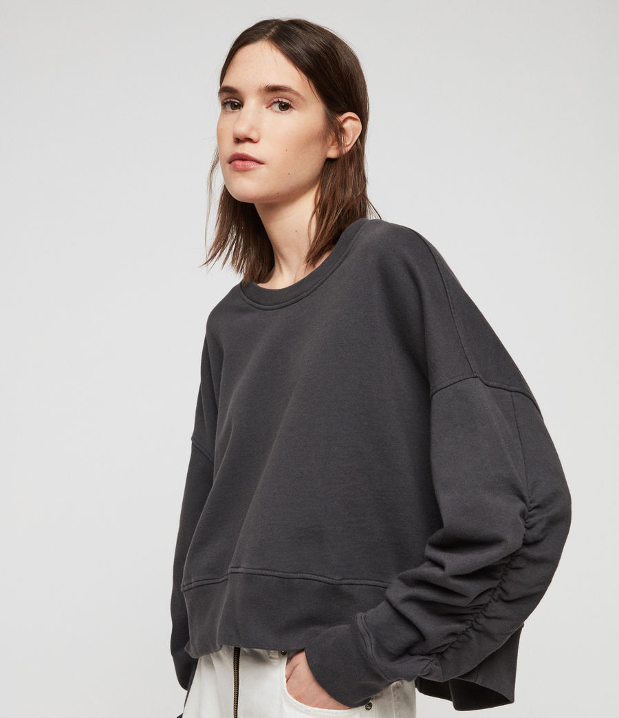 Women's Marna Sweatshirt (washed_black) - Image 2