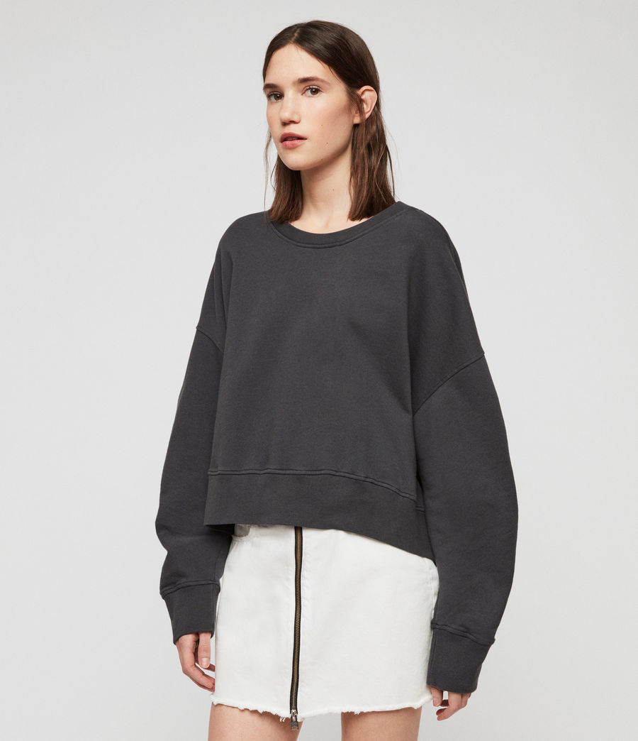 Women's Marna Sweatshirt (washed_black) - Image 3