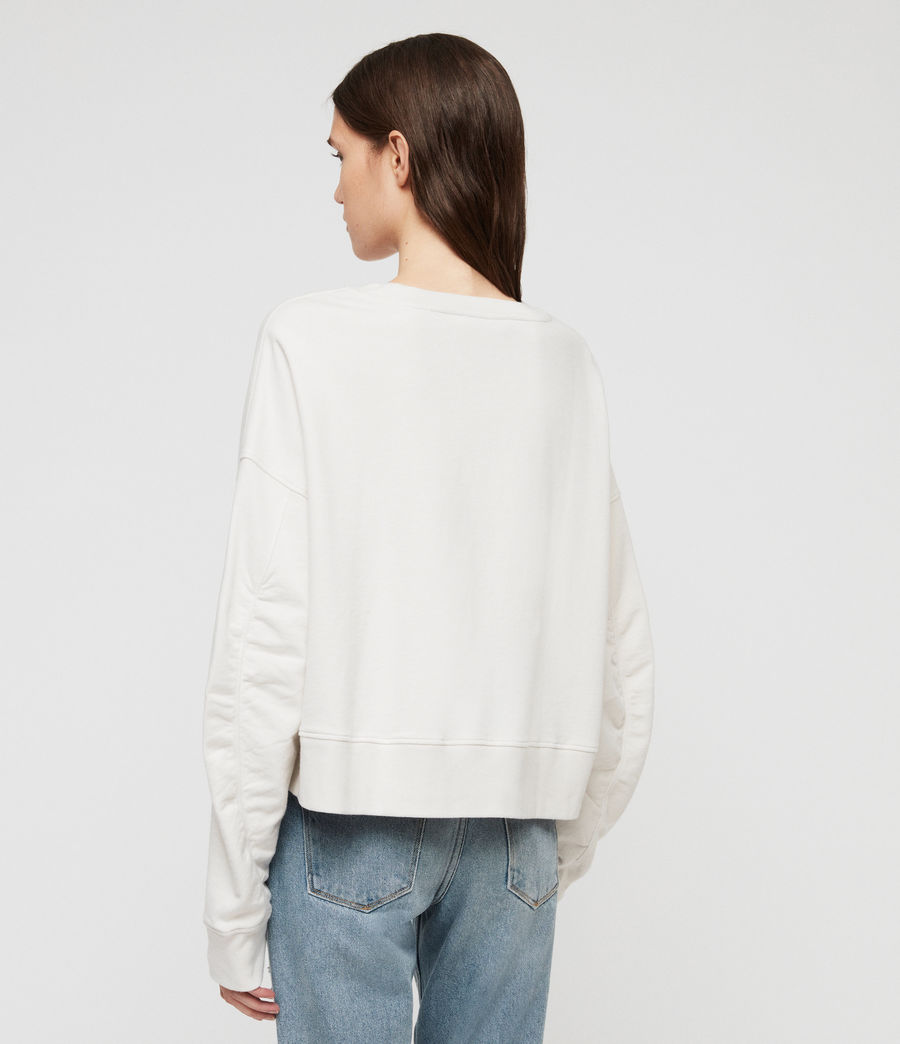 Women's Marna Sweatshirt (ivory_white) - Image 4