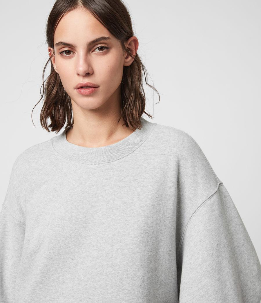 Femmes Sweat Contrastant en Coton Pur Nio (grey_marl_chalk) - Image 3
