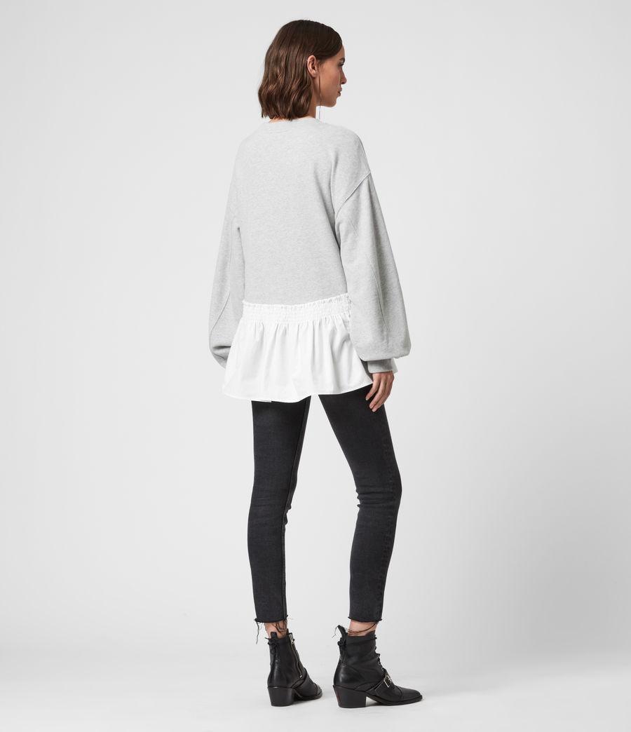 Femmes Sweat Contrastant en Coton Pur Nio (grey_marl_chalk) - Image 6