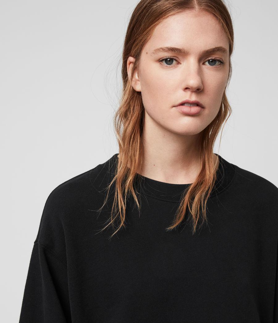 Donne Felpa Nio - In cotone con orlo arricciato (black_black) - Image 4